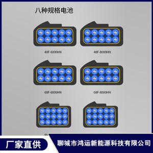 六种规格电动车锂电池