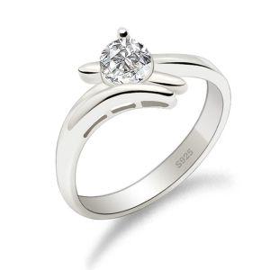 銀飾品批發 時尚純銀戒指鑲八心八箭結婚戒指婚慶首飾定制