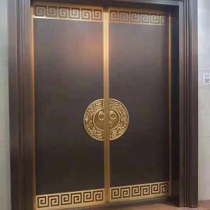 玻璃铜门制造-诚艺雕塑厂家直销-铜门制造