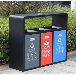 石家庄环保金属分类垃圾桶厂家 户外垃圾桶 价格优惠