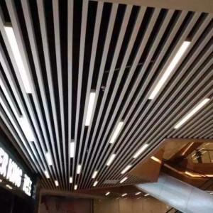 鋁方通吊頂烤漆木紋鋁方通室內室外吊頂天花裝修材料廠家批發方通