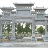 盛隆石业石雕牌坊村口石牌楼厂家直销价格低免费安装